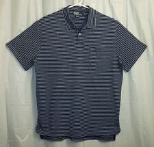 Polo Ralph Lauren Men's Polo Shirt Large L Blue Striped Pima Cotton