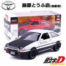 New 1:28 Initial D Toyota Trueno AE86 Alloy Diecast Model Sprinter Drift Car Toy
