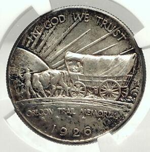 1926 Oregon Trail Commemorative Half Dollar Silver US Coin NGC MS 64  i76002