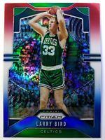 2019 Panini Prizm Red White & Blue Refractor Larry Bird #16, Boston Celtics