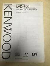 Kenwood Owner Operating Manual for the LVD-700 CD CDV LD Player