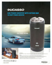 DUCASSO Car Charger+power inverter with air purifier+USB(2.1AMP)-FOR LAPTOP+ETC