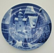 German Christmas Plate 1971 #9 Limited Edition Rothenburg On Tauber