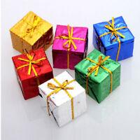 24pcs Small Christmas Ornament Foam Gift Box Xmas Tree Hanging Party  Decoration