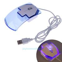 Crystal 1200 DPI USB Wired Optical LED Mouse Mice For Desktop PC Laptop Computer