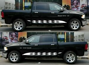 Rocker Panel Vinyl Graphic Decal Stripes Sticker for Dodge RAM 1500 2019 and Up