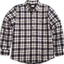 Flannel Long Sleeve Button-Front Casual Shirts for Men