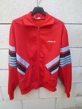 Veste ADIDAS rouge vintage Ventex France jacket tracktop oldschool jacke 80's L