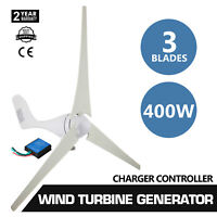 12/24V 400W Wind Turbine +20A Charge Regulator for Battery Charging Kit