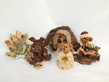 Lot (5) Boyds Bears Bearstone Collection Figurines with Boxes-Always Give Thanks