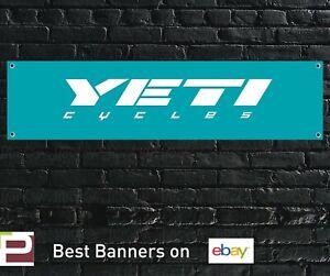 Yeti Cycles Banner PVC Sign for Workshop, Garage,Shop, Man Cave etc