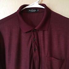 Men's Paul Smith of London, S/S Golf-Polo Shirt, Solid Cabernet Color, 2XL