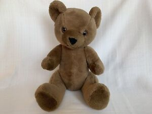 Vintage Jointed Brown Teddy Bear Plush Stuffed Animal Cute Toy