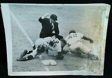1953 Jackie Robinson PRESS  PHOTO Brooklyn Dodgers Giants Bobby Thomson 50s vtg