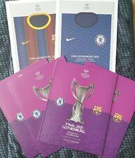 More details for chelsea v barcelona uefa women's champions league final 2021 programme+poster