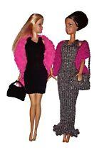 "BARBIE KNITTING PATTERN, 11 / 12"" DOLL, EVENING DRESSES AND SHAWLS, HANDBAGS"