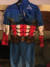 Captain America Dress Up Costume Age 3-4 Years, avengers