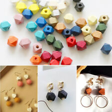 10PCS/Lot  Wooden Octagonal Bead DIY Jewelry Teething Accessories Teething Beads