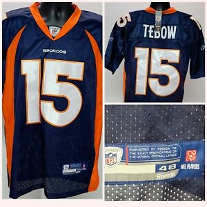 Tim Tebow AUTHENTIC Denver Broncos Jersey Reebok OnField Sz 48 Men's NEW NWT