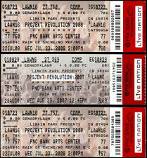 3 Rare Unused Linkin Park Projekt Revolution Tickets PNC Bank Arts Center