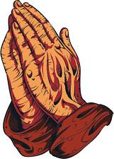"Jesus Christ Hands Religion Car Bumper Sticker Decal 4"" x 5"""