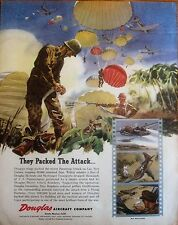Paratroopers Attack Lae, New Guinea, WWII Ad