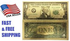 $1 Dollar Banknote Gold Plastic Paper Money