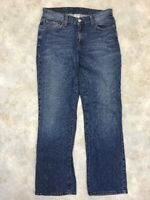 Lucky Brand Women's Blue Medium Wash Rider Fit Relaxed Jeans Sz 8 Long