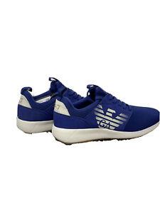 EA7 Emporio Armani  Uomo Sneakers In Tela Blu Taglia 43