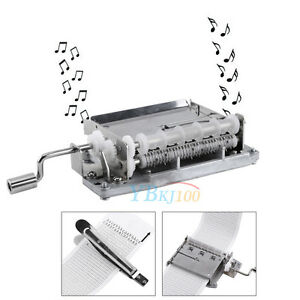 30-Note DIY Hand Cranked Music Box Movement + Puncher + 3 Blank Strip Tapes