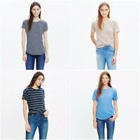 Madewell Womens Striped Whisper Cotton Crewneck Tee Shirt Sizes XXS-XL New