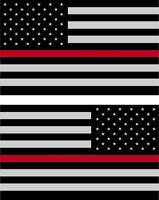 """5/"""" Hawaiian 3M Reflective Flag Decal set"""