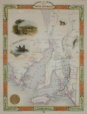 AUSTRALIA. PART OF SOUTH AUSTRALIA BY JOHN TALLIS 1850.