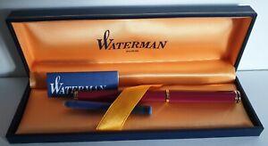 WATERMAN COFFRET STYLO PLUME + RECHARGE NEUF Réf 14