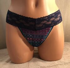 VICTORIA'S SECRET, Size Large, Low-Rise Thong, in Cotton w/Lace Panties.  NEW.
