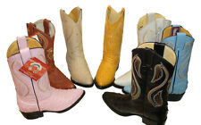 Kid's Boots Children youth sizes Ostrich cowboy boots leather Western Cowboy