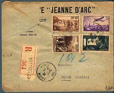 FRANCIA - 1938 - Raccom. affrancata per 3,45 fr.  con francobolli del periodo