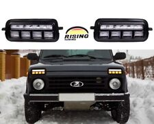 Lada Niva 2121 LED daylights Headlights DRL + Relay 4x4 URBAN
