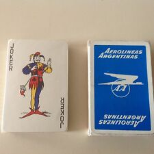 AEROLINEAS ARGENTINE AIRLINES VINTAGE POKER DECK PLAYING CARDS NEW SEALED UNUSED