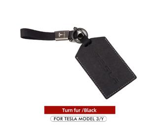 For Tesla Model 3 Y Card Cover Keychain Holder Key Set Holder Case Key Bag