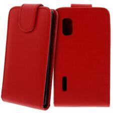 Für LG E610 Optimus L5 Handy Flip Case Tasche Hülle Schutz Rot