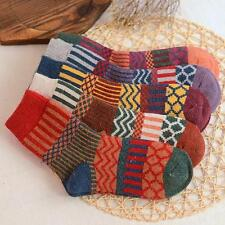 5 Pairs Women Wool Cashmere Warm Soft Thick Casual Multicolor Retro Winter Socks