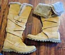 Women's SKECHERS US 6 M  Sand Leather Fashion Winter Snow BOOTS Shoes EU 36 UK 3