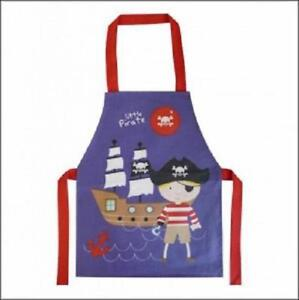 Pirate Children's Wipe Clean PVC Coated Child's Navy Cotton Apron - Shreds