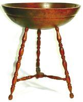 Antique Primitive Carved Wood Trencher Dough Bowl