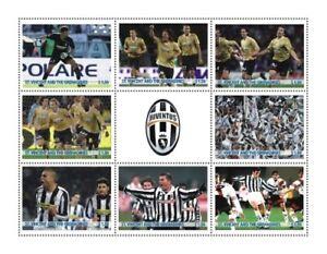 St. Vincent 2009 - SC# 3655 Juventus Football, Soccer - Sheet of 8 Stamps - MNH