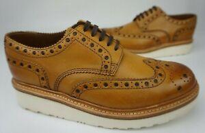 Grenson Men's Archie Wedge Wingtip Tan Shoes Size 7.5 G/ 8.5 US