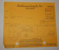 Vintage 1947 Pan American Candy Co Advertising Sales Receipt