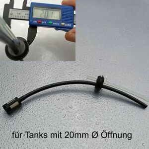 Benzinfilter Benzinschlauch Set Dichtung 20mm Ø für Motorsense Heckenschere