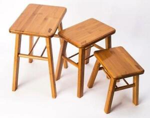 bamboo wooden stool rest stool fishing stool Rectangle bamboo stool vase...
